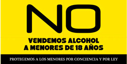 No vendemos alcohol